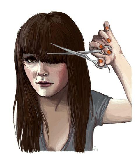 Рисуем девочку с челкой