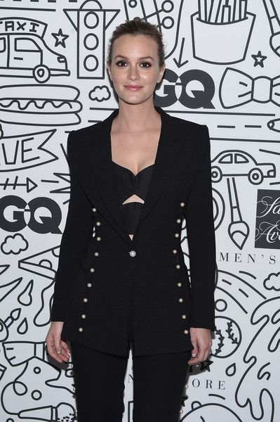 Leighton Meester attends the Saks Downtown Men's opening in NYC.