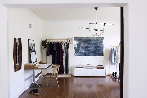 Modern Work Space: Katherine Tsina's apparel design studio and work space at her home in Los Angeles.