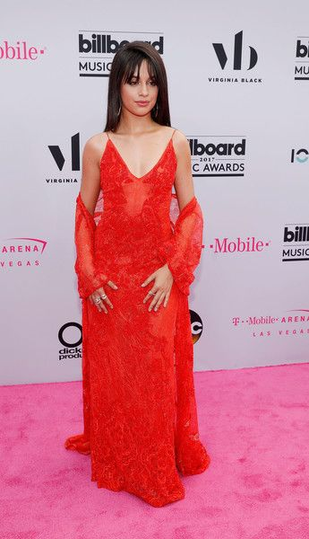 Camila Cabello arrives at the 2017 Billboard Music Awards.