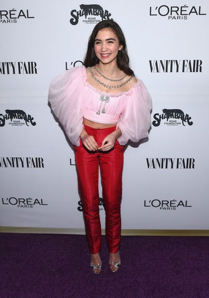 Actor Rowan Blanchard attends the Vanity Fair and L'Oreal Paris Toast to Young Hollywood.