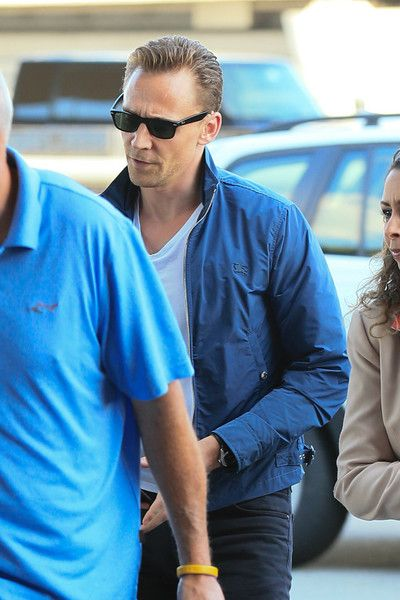 Tom Hiddleston is seen at JFK.