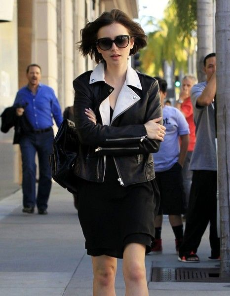 Lily Collins goes out in Beverly Hills.