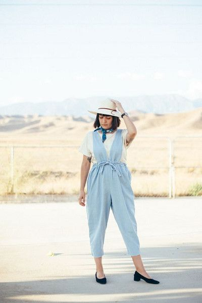 Add A Vintage Touch With Low Block Heels - Easy Ways to Jazz Up Your Jumpsuits - Photos