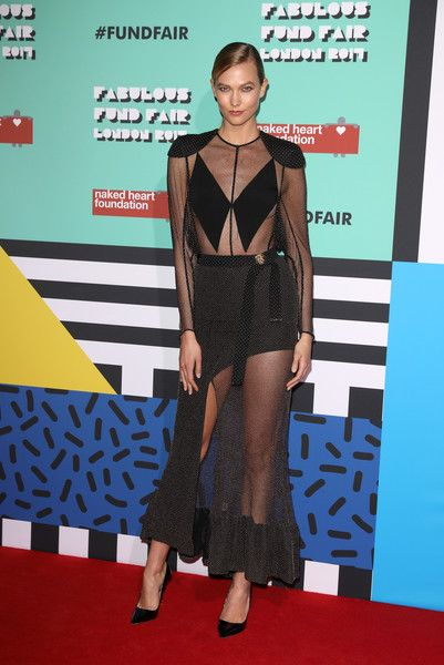 Karlie Kloss attends The Naked Heart Foundation's London's Fabulous Fund Fair.