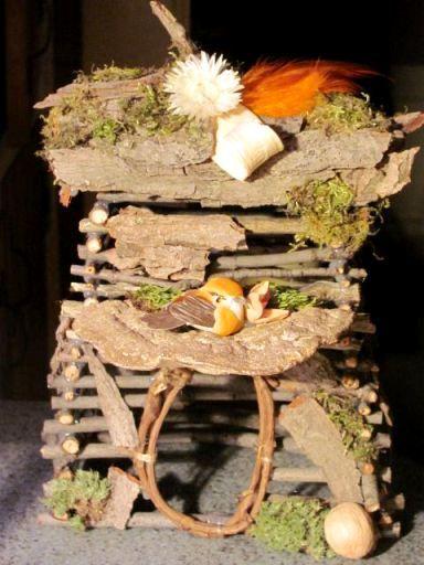 Домик для феи из природных материалов 23