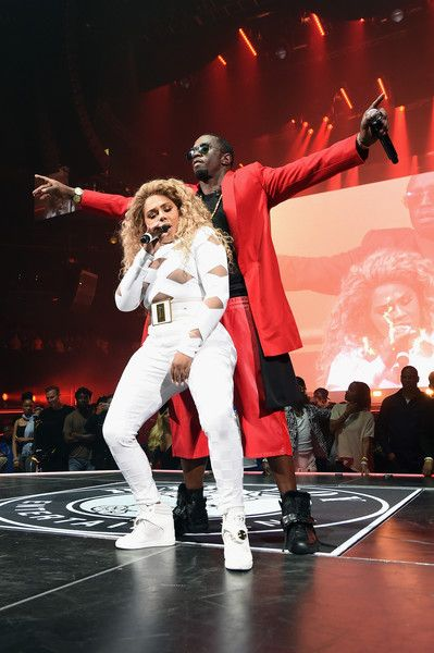 """Sean """"Diddy"""" Combs aka Puff Daddy and Lil Kim perform onstage during the Puff Daddy and The Family Bad Boy Reunion Tour presented by Ciroc Vodka And Live Nation at Barclays Center on May 20, 2016 in New York City."""