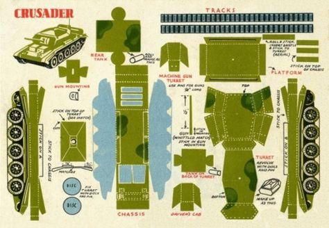 Как сделать танк из бумаги е 25