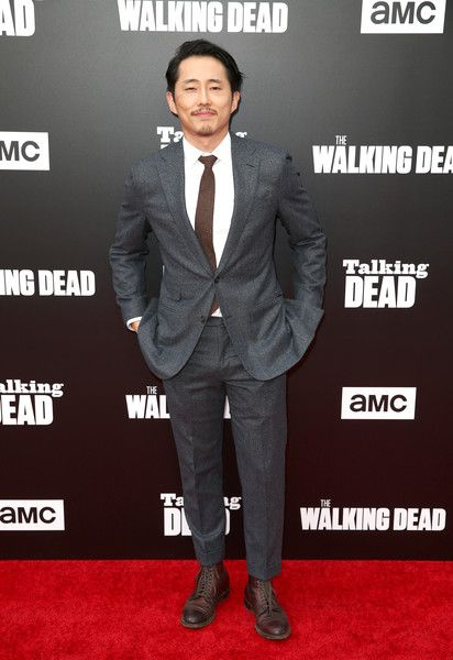 Actor Steven Yeun attends as AMC presents 'Talking Dead Live' for the premiere of 'The Walking Dead.'