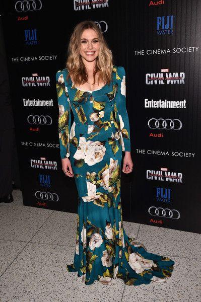 Elizabeth Olsen attends a screening of Marvel's 'Captain America: Civil War.'