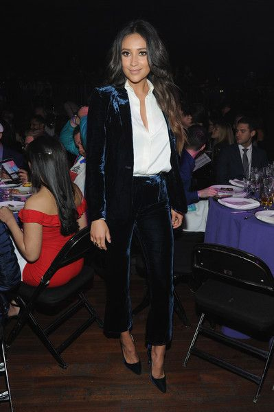 Actress Shay Mitchell attends the 9th Annual Shorty Awards.