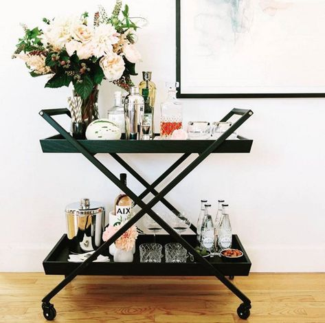 Black Lines - Must-See Bar Cart Eye Candy And Inspiration - Photos