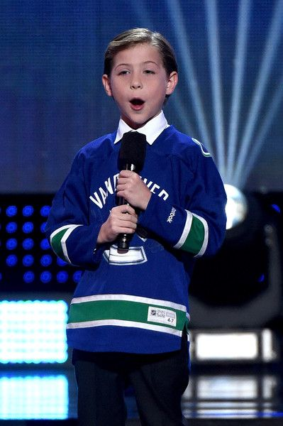 Tiny actor Jacob Tremblay presents during the 2016 NHL Awards at The Joint inside the Hard Rock Hotel & Casino.