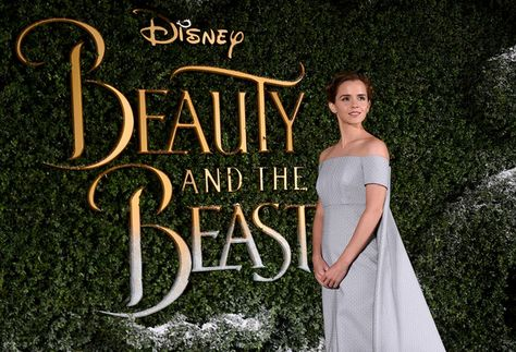 Emma Watson attends the UK launch event for Disney's 'Beauty and the Beast' in London.