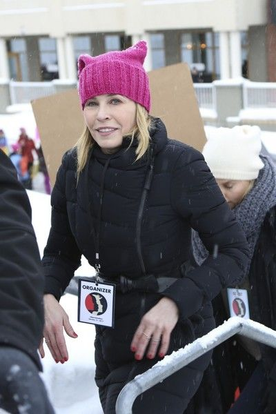 Chelsea Handler attends the Women's Rights March in Park City, Utah.