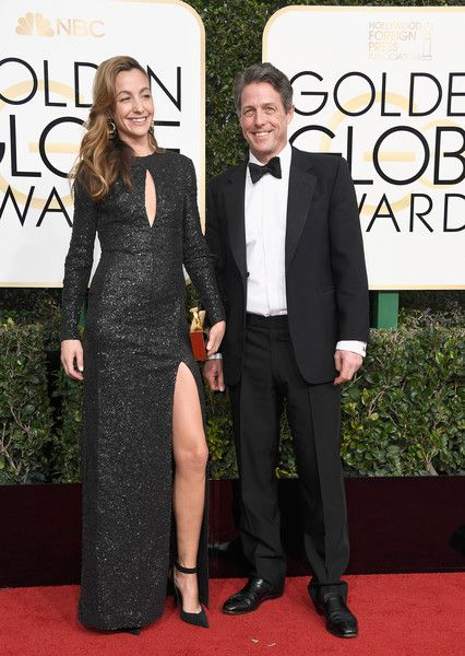 Hugh Grant and Anna Elisabet Eberstein - The Cutest Couples at the 2017 Golden Globes - Photos