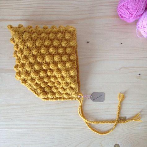 TUTO crochet : béguin à pompons (+diagramme