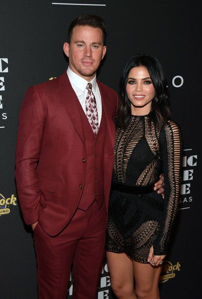 Actor Channing Tatum and actress Jenna Dewan-Tatum attend the grand opening of 'Magic Mike Live Las Vegas.'