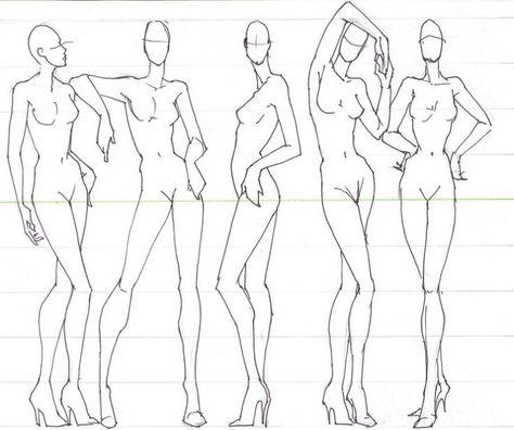 Позы моделей рисунках