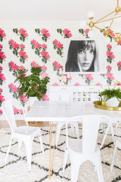 Modern Floral - 15 Rooms That Make The Case For Decorating With Pink - Photos