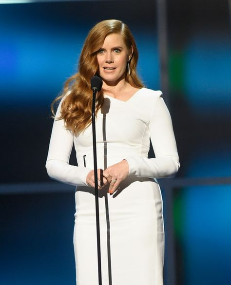 Actress Amy Adams speaks onstage during the 5th Annual NFL Honors at Bill Graham Civic Auditorium on February 6, 2016 in San Francisco, California.