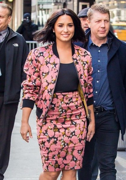 Celebrities making an appearance on 'Good Morning America' in New York City, New York on March 20, 2017 Pictured: Demi Lovato