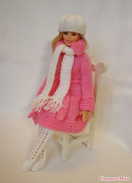 Вязание крючком пальто для барби 62