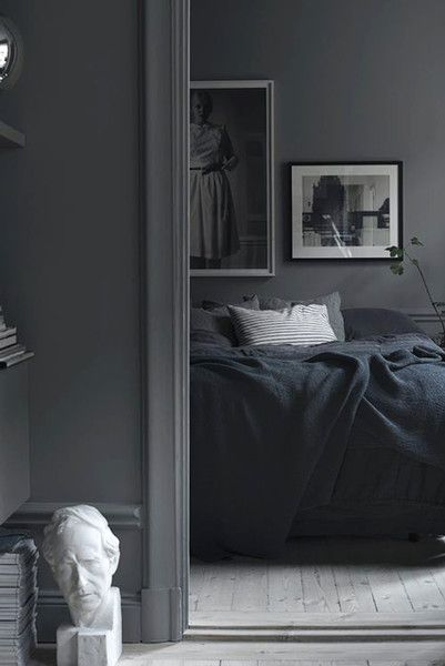Start With Gray - Our Favorite Dark Living Spaces - Photos