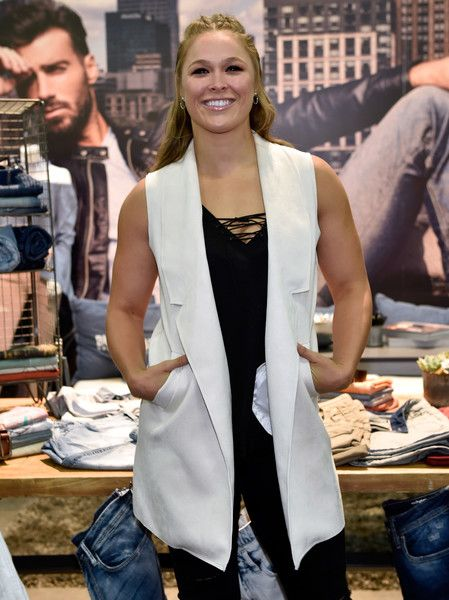 Ronda Rousey attends the Buffalo David Bitton booth during Project Vegas at the Mandalay Bay Convention Center.
