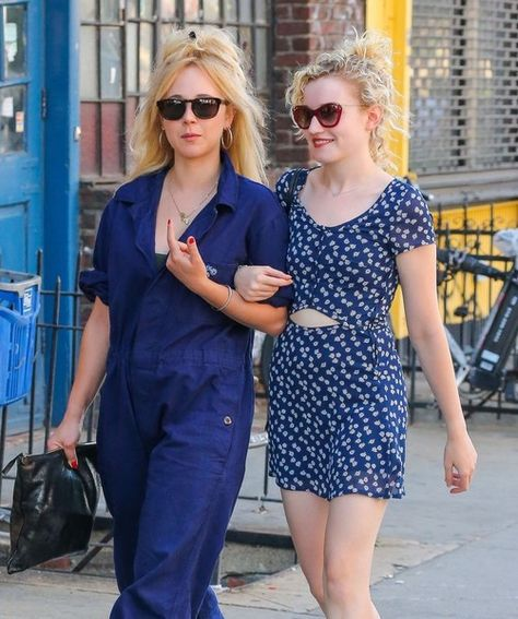 'Vinyl' actress Juno Temple and a friend are spotted out and about in New York City.