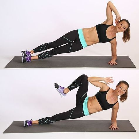 Side Plank Crunch - Work Your Core With These Ab Exercises - Photos