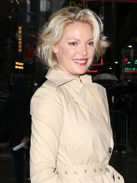 Katherine Heigl makes an appearance on 'Good Morning America' in New York City.