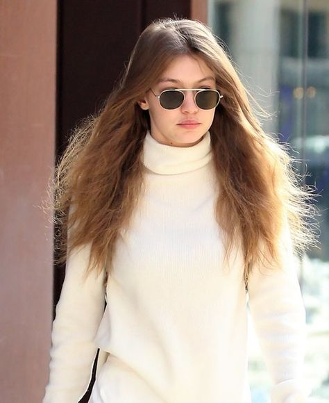 Model Gigi Hadid is spotted leaving her apartment in Soho.
