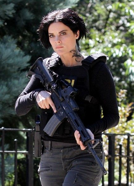 Actress Jaimie Alexander and actor Sullivan Stapleton are spotted filming scenes on the set of 'Blindspot' in New York City.