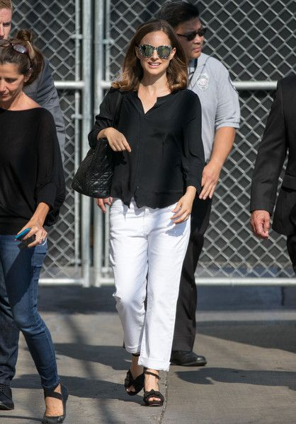 Natalie Portman is seen at 'Jimmy Kimmel Live.'