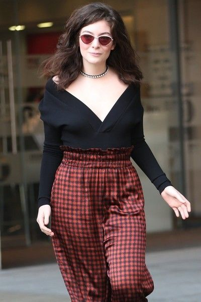 New Zealand pop star Lorde is spotted at BBC Studios to appear on the Nick Grimshaw Breakfast Radio show in London, England.