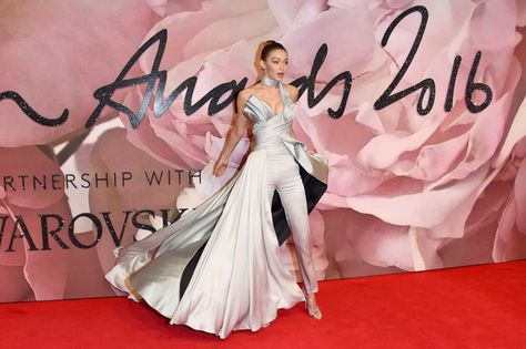 Model Gigi Hadid attends The Fashion Awards 2016 on December 5, 2016 in London, United Kingdom.
