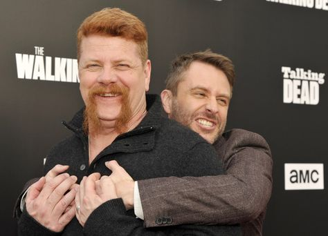 Actor Michael Cudlitz and host Chris Hardwick attend as AMC presents 'Talking Dead Live' for the premiere of 'The Walking Dead.'