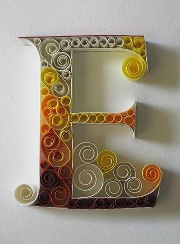 Буквы бумажные поделка
