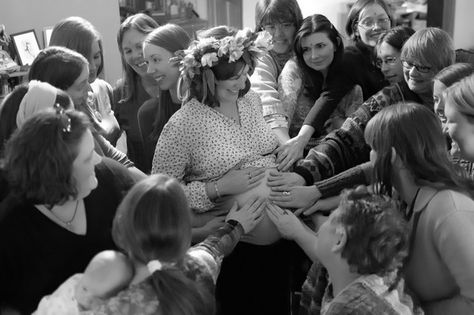 Bless Mom with touch - Celebrate Mom-to-Be with a Blessingway Instead of a Baby Shower - Photos