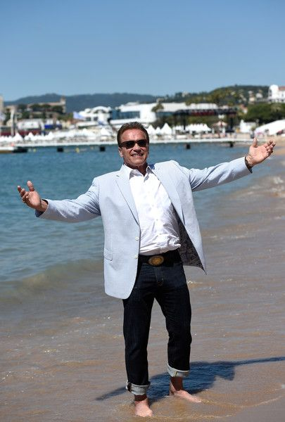 Arnold Schwarzenegger attends photocall for 'Wonders of the Sea 3D' during the 70th annual Cannes Film Festival.