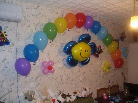 Украшение из шаров на день рождения ребенка своими руками 79