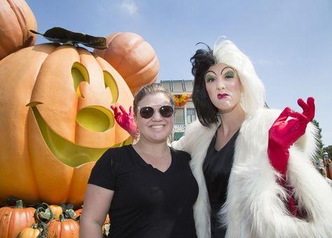 Kelly Clarkson celebrates Halloween Time with Cruella de Vil at Disneyland in Anaheim.