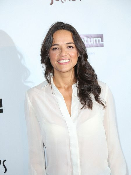 Michelle Rodriguez is seen arriving at the premiere of Momentum Pictures' 'Milton's Secret' at the TCL Chinese 6 Theatres.