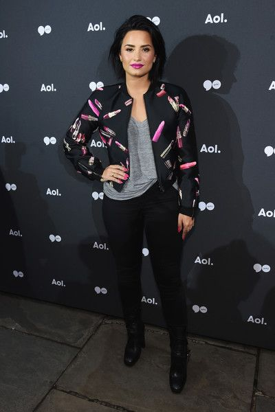 Demi Lovato attends the AOL NewFront 2016 at Seaport District NYC.