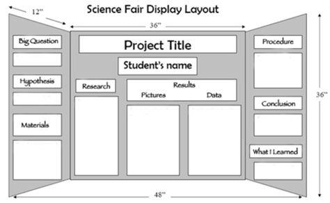 Poster board layout ideas
