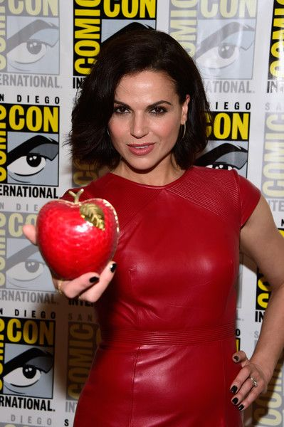 Actress Lana Parrilla attends the 'Once Upon A Time' Press Line at Comic-Con.