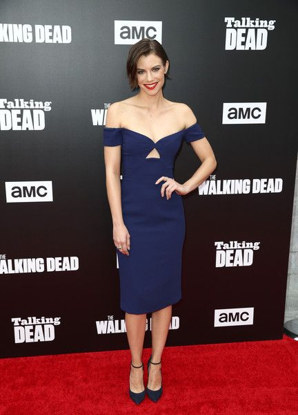 Actress Lauren Cohan attends as AMC presents 'Talking Dead Live' for the premiere of 'The Walking Dead.'