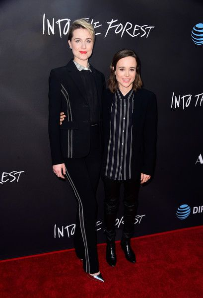 """Actresses Evan Rachel Wood and Ellen Page attend A24's """"Into The Forest"""" premiere at ArcLight Hollywood on June 22, 2016 in Hollywood, California."""