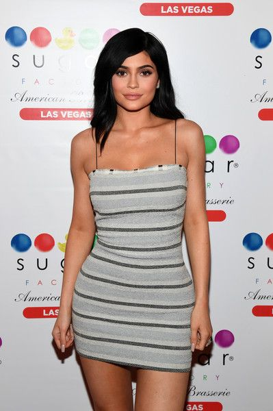 Television personality Kylie Jenner arrives at Sugar Factory American Brasserie.